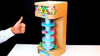Helix Jump Game DIY - Build Hielix Jump Gumball Vending Machine DIY From Cardboard