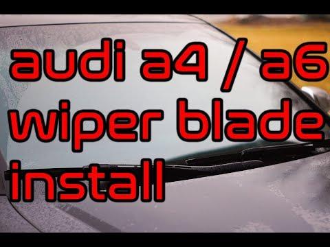 Audi A4 & A6 Wiper blade replacement B6, B7, C5