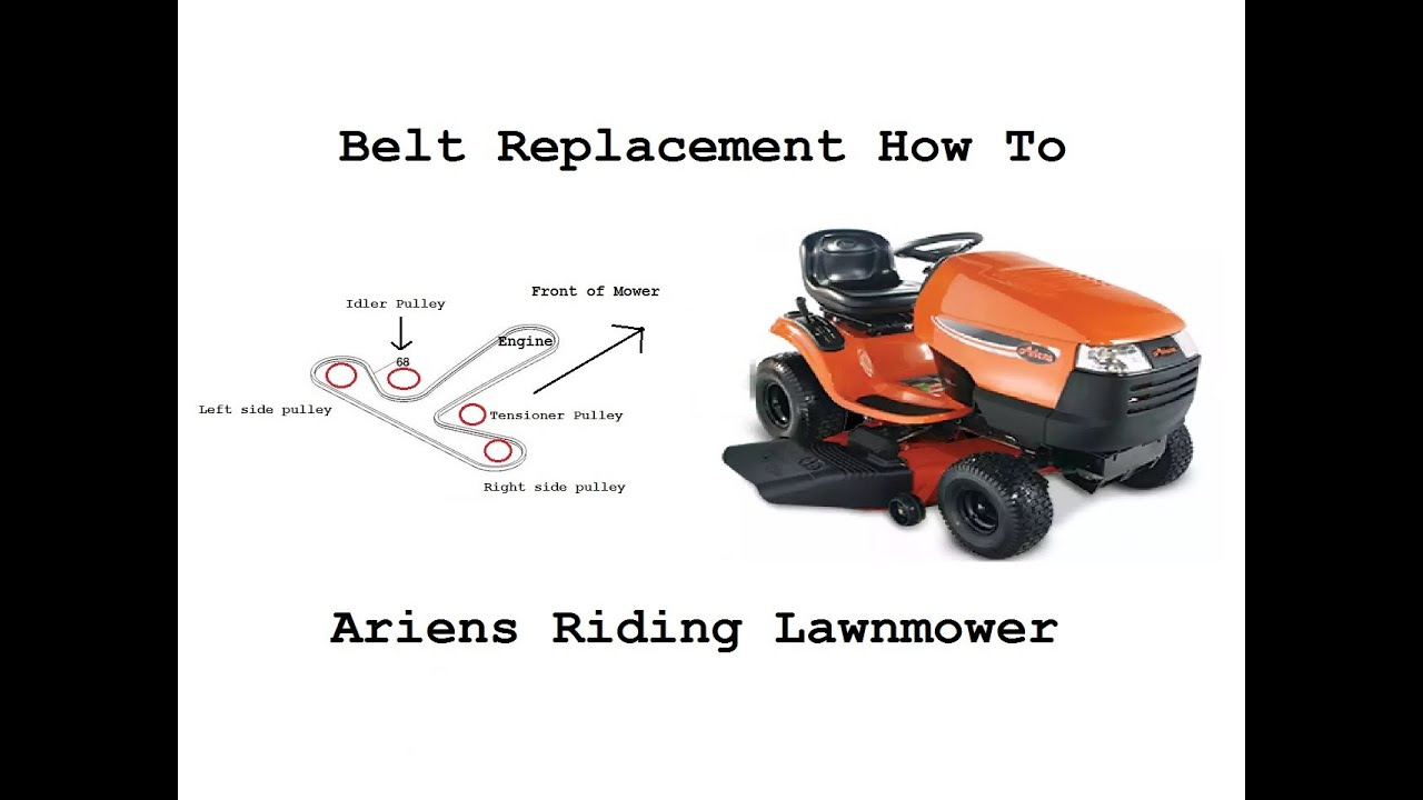 ariens 46 u0026quot  riding lawnmower belt replacement how to