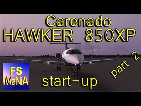 Carenado HAWKER 850XP Cold & Dark Start-up Tutorial part 2