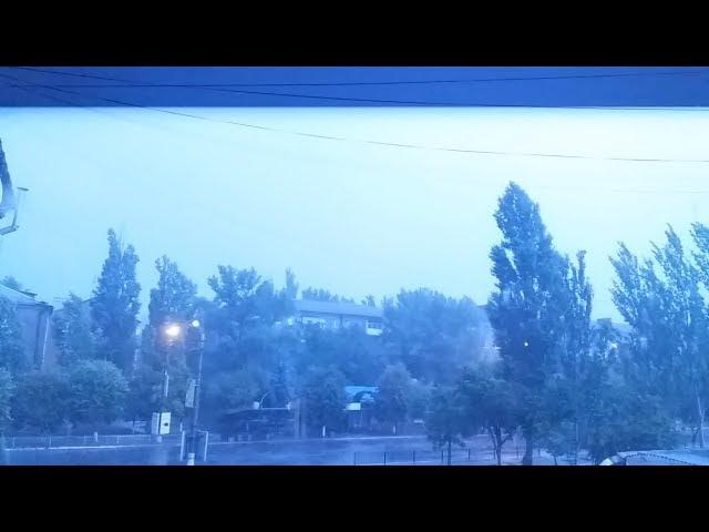 Гроза, молния, ливень в Горловке. 29.07.17