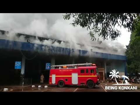 Panjim KTC Busstand on Fire    RTO Office Fire in Panjim