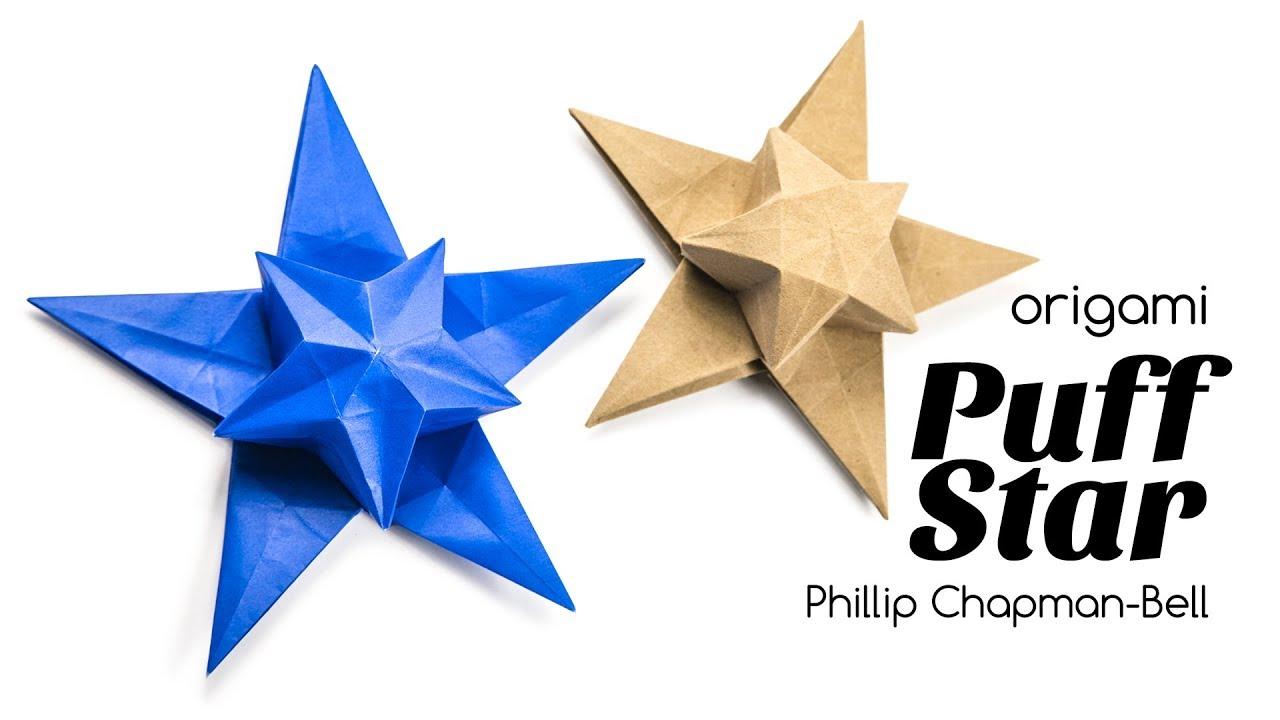 Origami Puff Star Tutorial Philip Chapman Bell Paper Kawaii