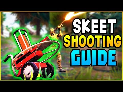 Fortnite - SKEET SHOOTING LOCATIONS! New SECRET Location! Shoot A Clay Pigeon Week 3 Challenge Guide