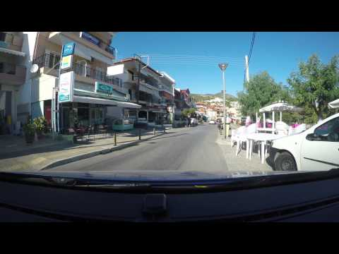 GoPro H4K-drive Through Neos Marmaras - Sithonia - Halkidiki - Greece 2015