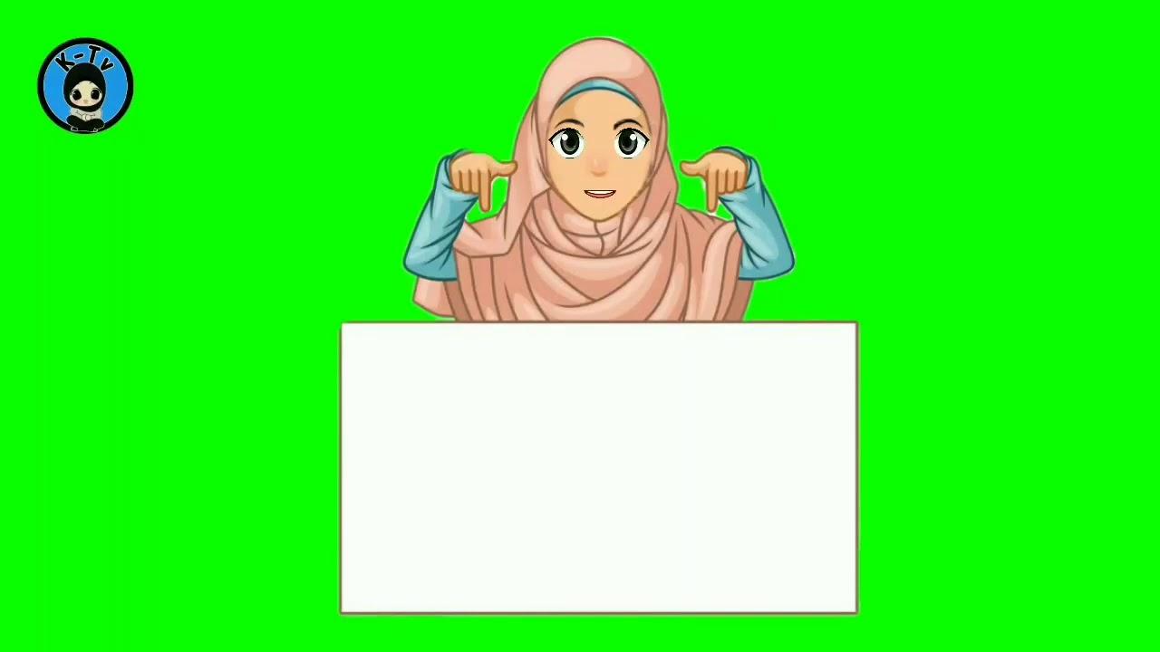 Muslimah Gambar Guru Mengajar Kartun
