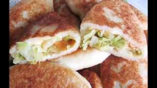 Быстрые пирожки с капустой жареные на растительном масле. Сайт http://www.bvgyoga.com