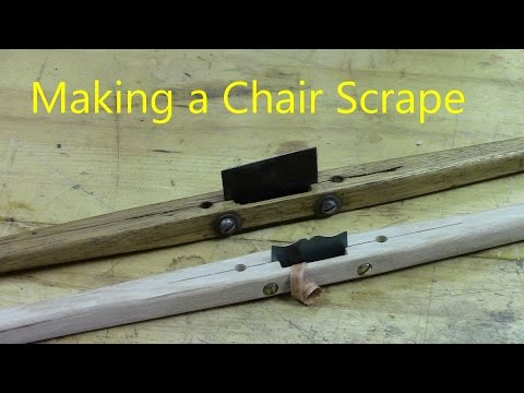 Making a Chair Scraper using  power tools or a few woodworking hand tools