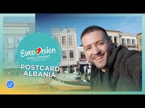 Postcard of Eugent Bushpepa from Albania - Eurovision 2018