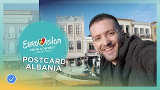 Postcard of Eugent Bushpepa from Albania - Eurovision 2018