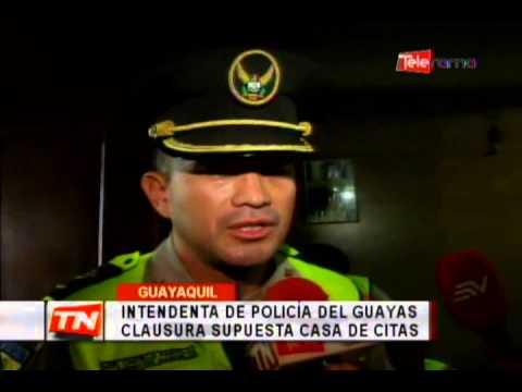 Intendenta de policía del Guayas clausura supuesta casa de citas