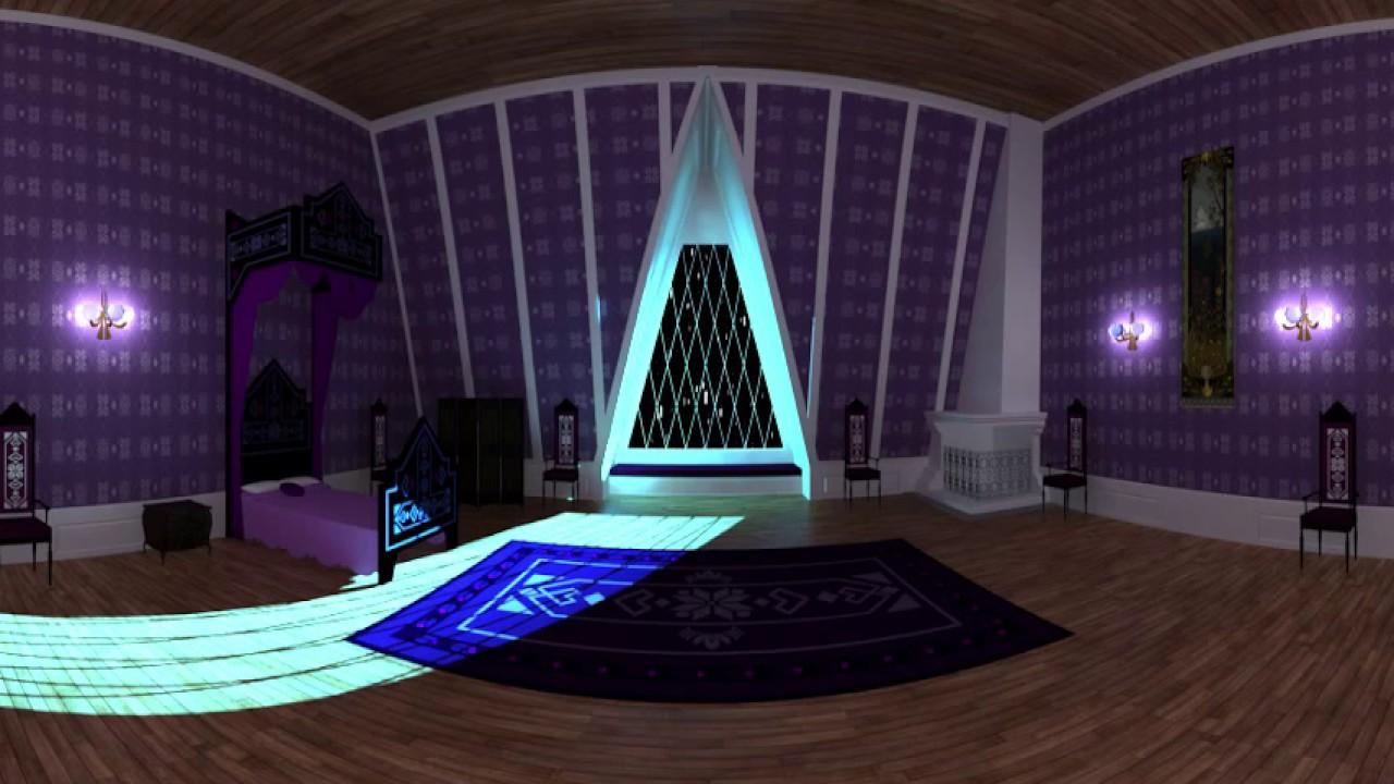 Disney Frozen Inside Elsa S Room 360 Video Youtube