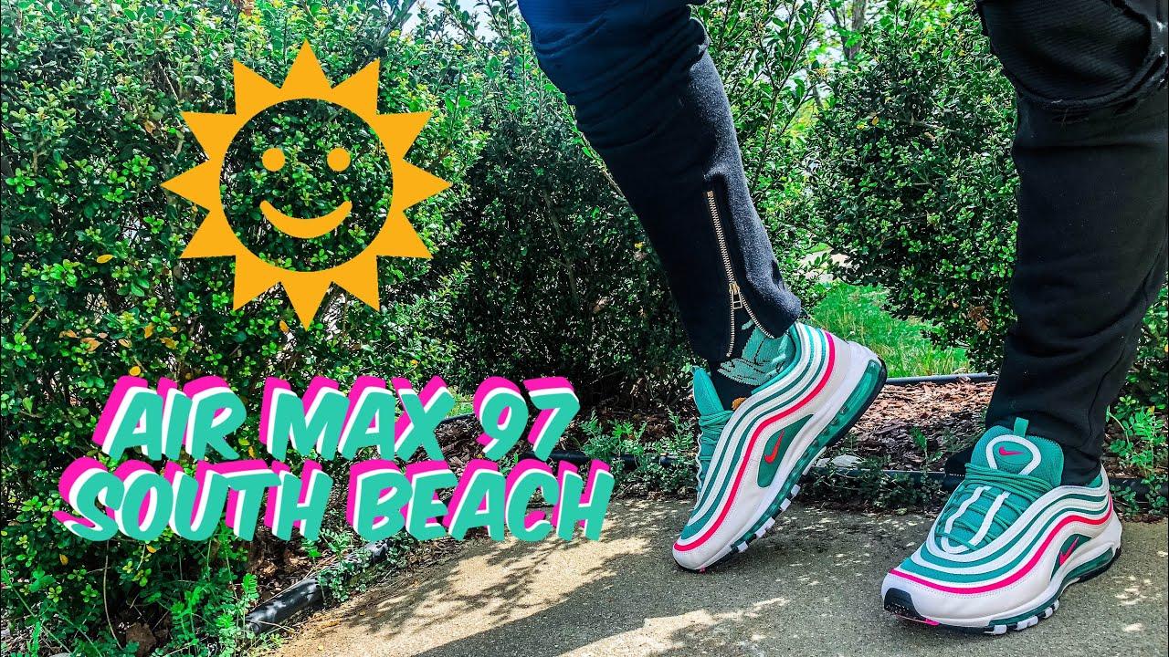 Nike Air Max 97 (South Beach) Social Status Pick up + Epic On Foot