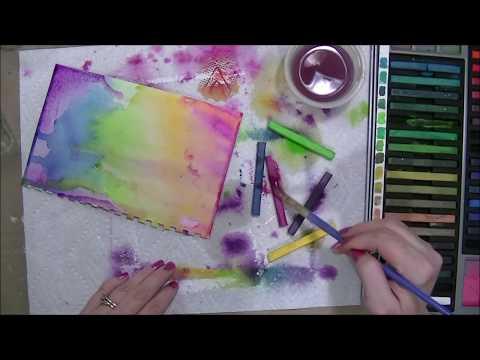 Inktense Blocks + Color Shine + Wood Veneers - Mixed Media Art Journal