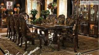 Oppulente Sienna Spice Rectangular Dining Room Collection From Aico Furniture