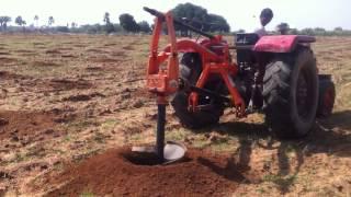 PHD - Making holes for pomegranate plantation