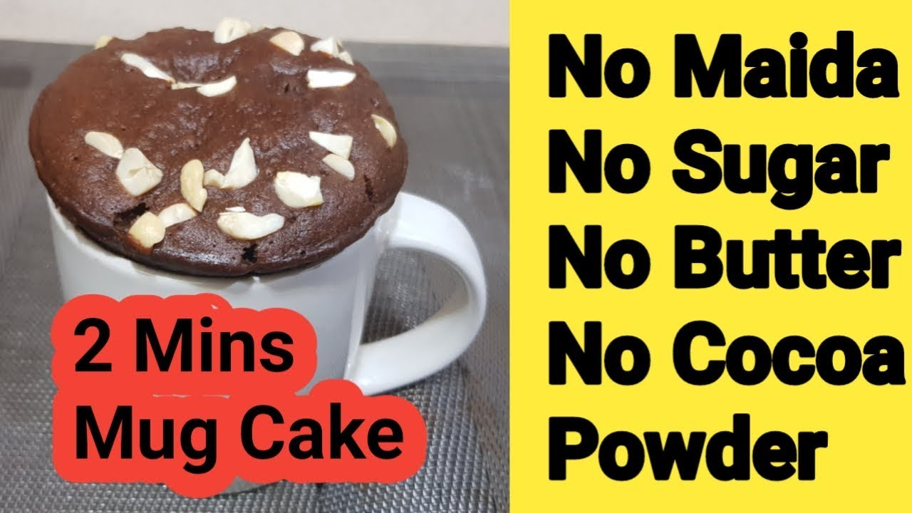 2 Minutes Mug Cake No Maida No Sugar No Butter No Cocoa Powder 2 Min Coffee Mug Cake Youtube