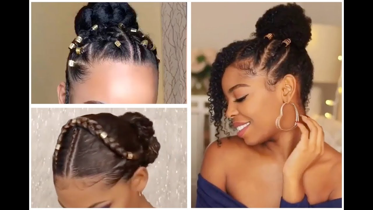 Not Your Ordinary Bun Beautiful Bun Hairstyles For Black Women Youtube High Bun Hairstyles Black Women Hairstyles Braided Bun Hairstyles