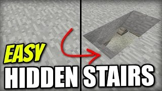 Minecraft - HIDDEN STAIRS [ EASY ] Tutorial - PS4 / PE / Xbox / PS3 / Wii U