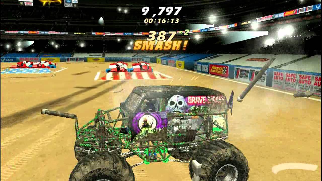 Monster Jam Games Free >> Monster Jam PC Gameplay - YouTube