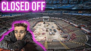 Abandoned Detroit Arena - Found VIP Rooms ! Joe Louis Arena