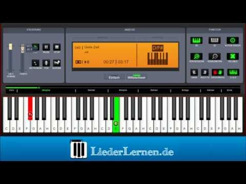 Juli - Geile Zeit - Klavier lernen - Musiknoten - Akkorde