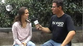 Roberta Simões da Banda Aguarraz em matéria especial para TV Fato
