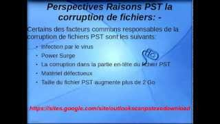 comment réparer outlook 2010