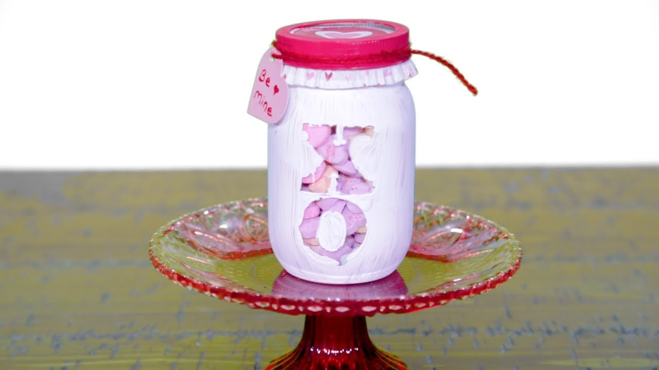 These Diy Festive Valentine S Day Candy Jars Make The Perfect Gift