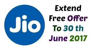 Reliance JIo ने 30 june 2017 तक अपने फ्री ऑफर को बराय हैं. यादा जानने के लिए विडियो को ज़रूर देखे