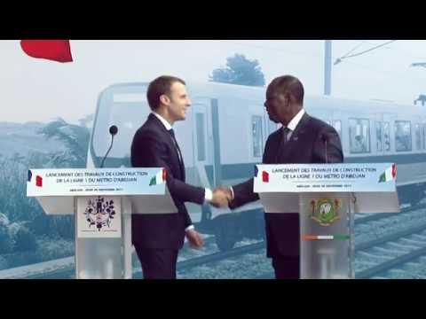 Emmanuel Macron veut faire de la Côte d'Ivoire un hub en matière de formation.