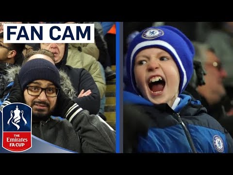 Chelsea Fans Celebrate Extra Time Winner! | Fan Cam | Leicester 1-2 Chelsea | Emirates FA Cup
