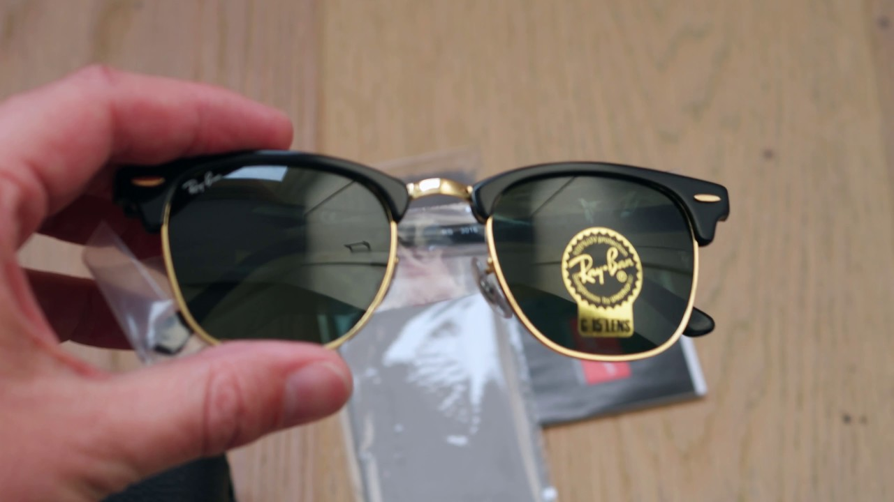 455a413c51 Ray Ban Clubmaster Classic black - YouTube