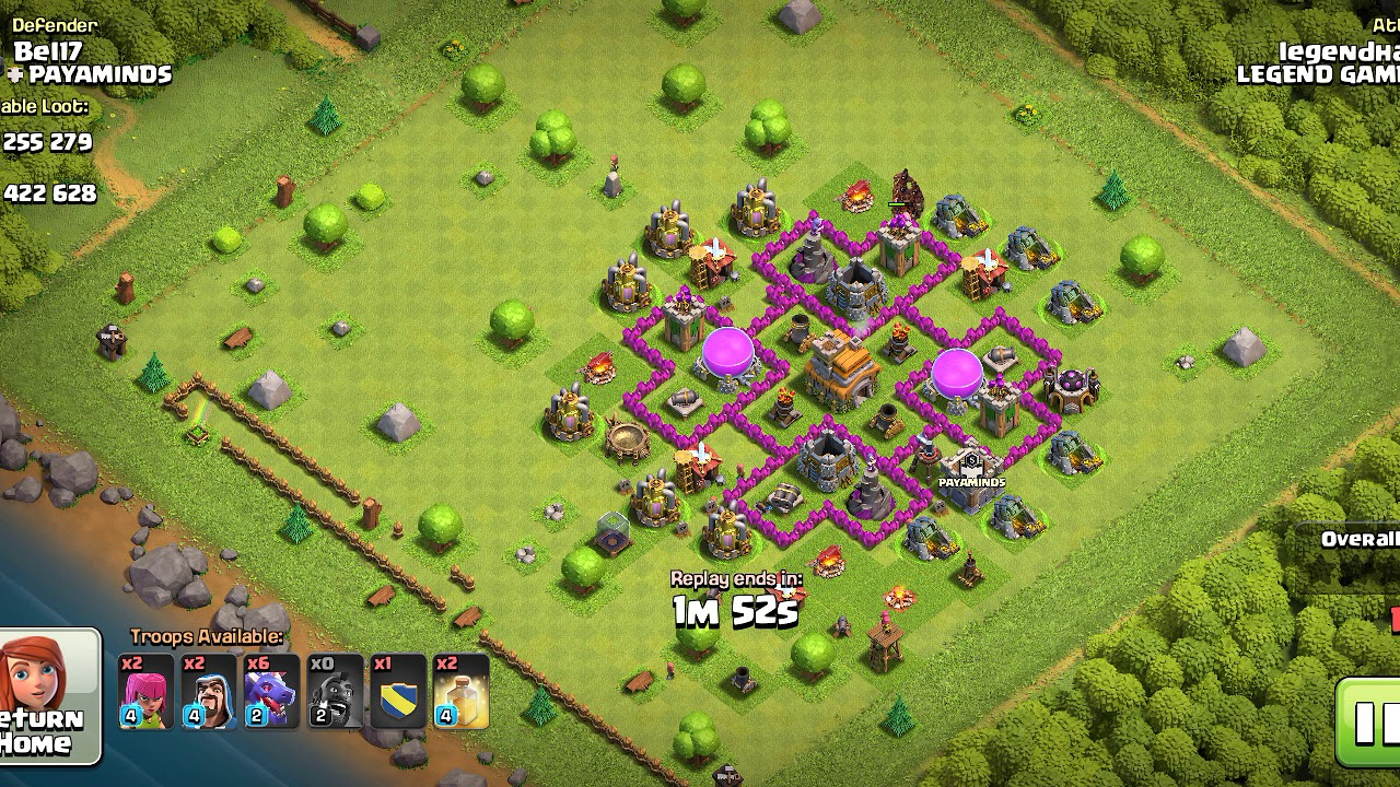 Coc most powerful attack by hog rider and dragon - YouTube