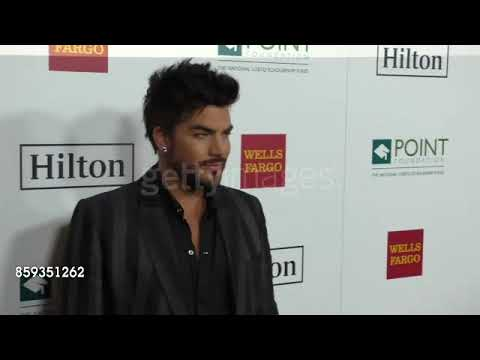 Adam Lambert on the red carpet at Point Honors Los Angeles 2017, October 7