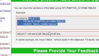 How to check if table exists in sql server