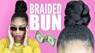 Braided Bun with Kanekalon Hair► Natural Hair Protective Styles