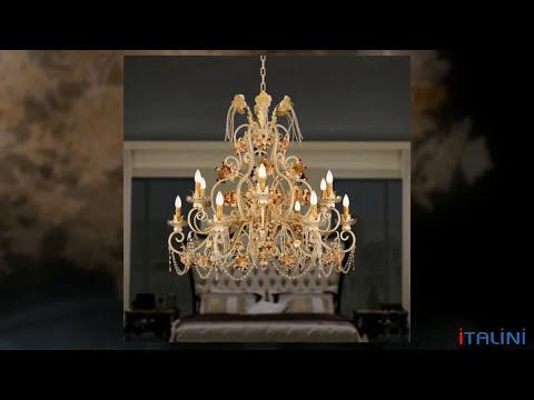 Итальянские светильники и люстры фабрики Mechini. ITALINI - поставщик мебели и света из Италии