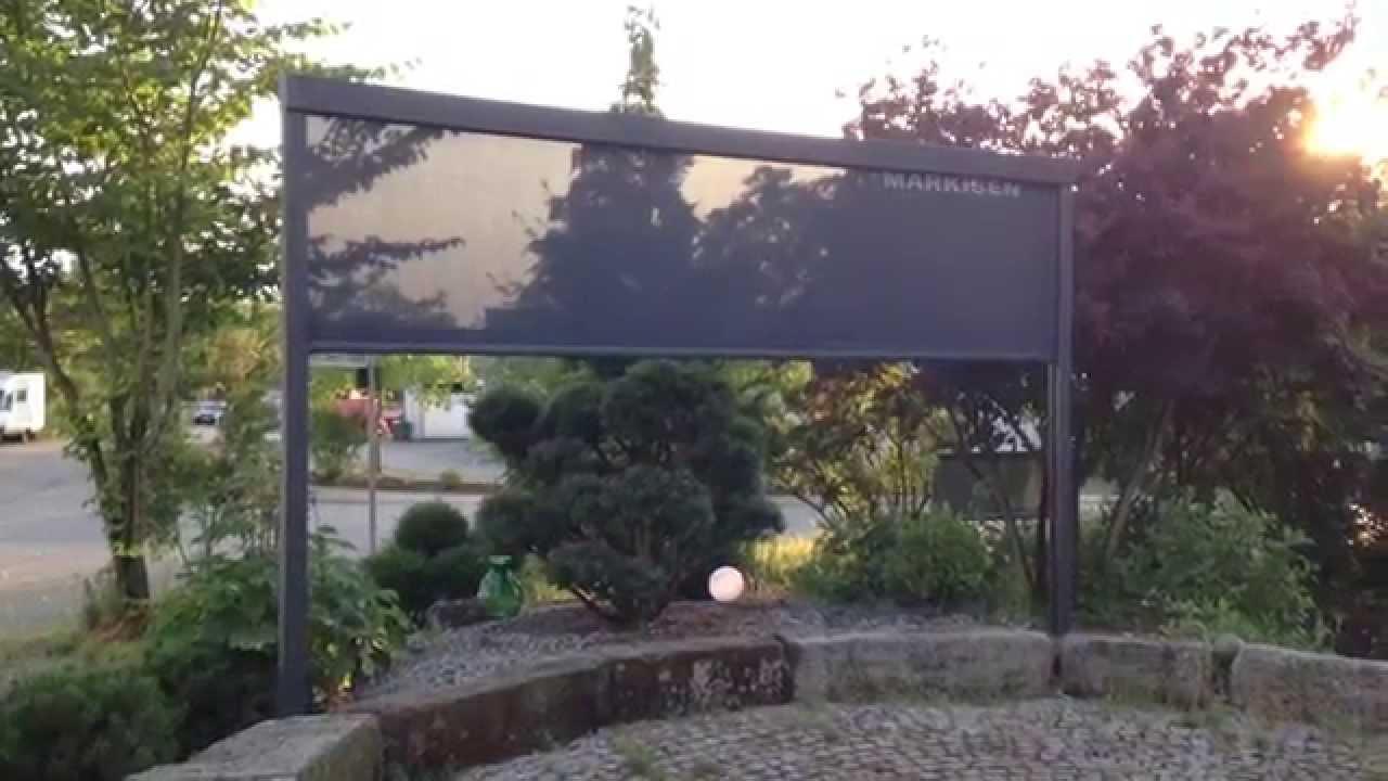 Sonnen Und Sichtschutz Zip Die Vertikalmarkise Youtube