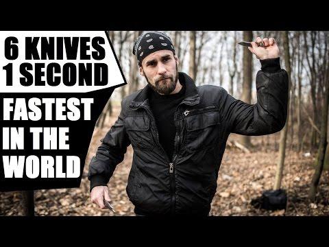 HUMAN MACHINE GUN   World's Fastest Knife Thrower (Compilation 2015-2017)
