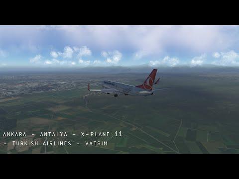 ankara-to-antalya---x-plane-11---turkish-airlines---vatsim