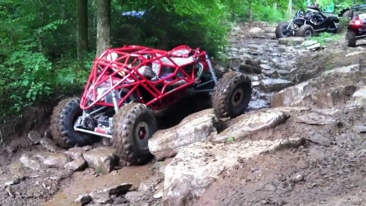Custom Rock Crawler Buggy Tearing Up A Creek Bed Youtube
