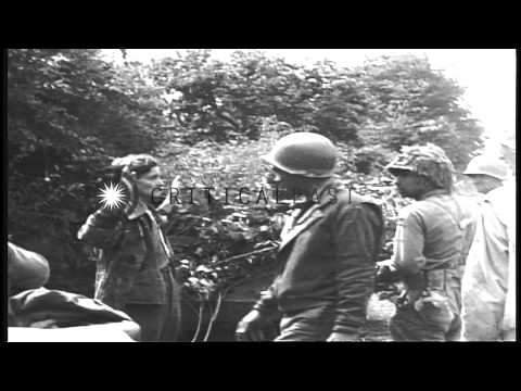 Tanks and soldiers of US 41st Infantry, 66th Armored Regiment, 2nd Armored Divisi...HD Stock Footage