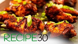 Hot and Spicy Garlic Chicken Wings recipe