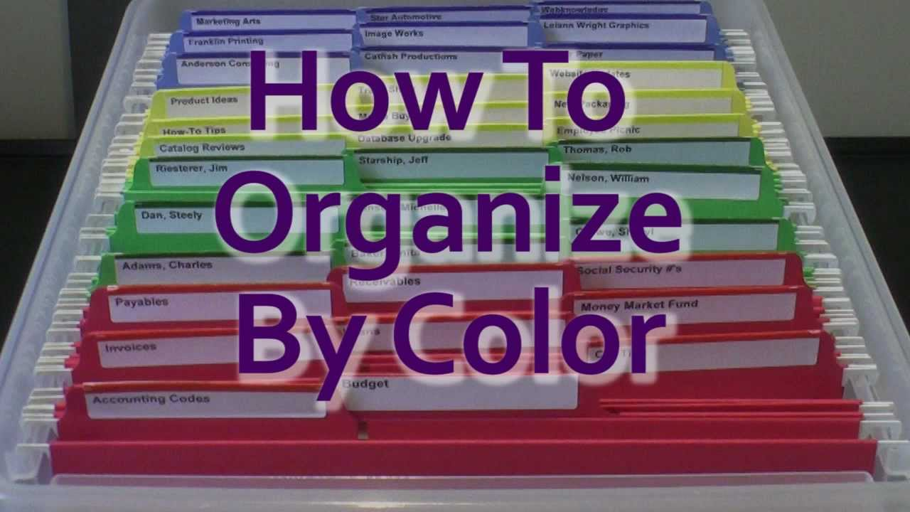 Color Coding How To Organize By Color Youtube