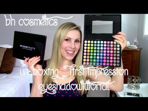 UNBOXING! BH Cosmetics 88 Color Palettes + Eyeshadow Tutorial! Review & Swatches