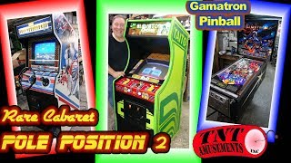 #1397 Taito ELEVATOR ACTION & Atari POLE POSITION 2 Cabaret Arcade Video Game- TNT Amusements