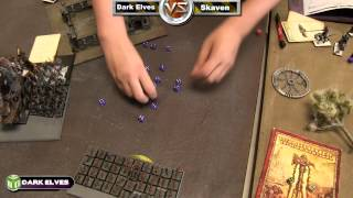 Skaven vs Dark Elves Warhammer Fantasy Battle Report - MWG Fantasy League Ep 1