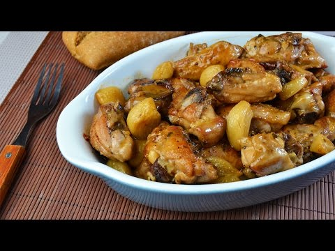 Spanish Garlic Chicken (Pollo al Ajillo) - Easy Chicken Thighs in Garlic-Wine Sauce Recipe