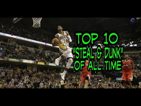 """NBA Top 10 """"Steal & Dunk"""" of All Time"""